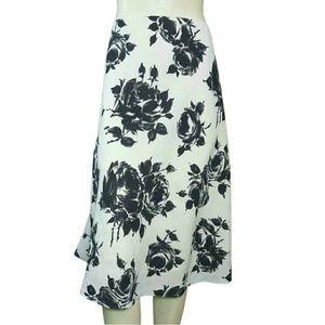 Talbots Linen Floral A-Line Skirt